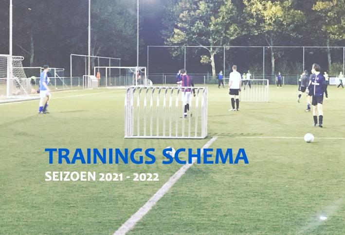 Trainingsschema 2021-2022 - update